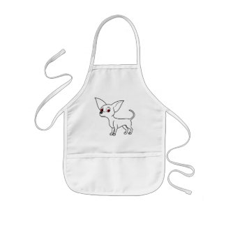 White Chihuahua with Short Hair Kids' Apron