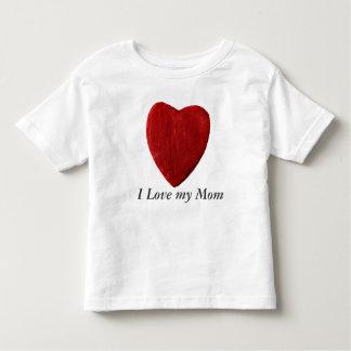white child shirt I Love my Mom with heart