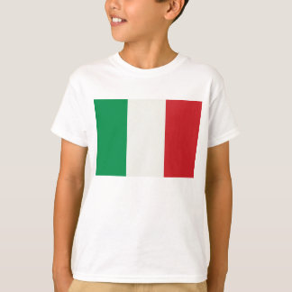 white child shirt with Italy flag