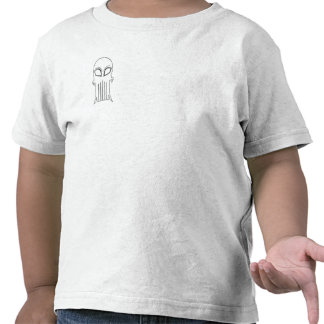 White Childrens Clever Composition Skull Tees