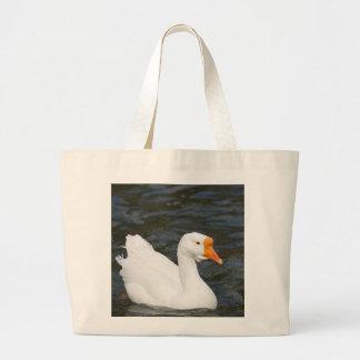 White Chinese Goose Large Tote Bag