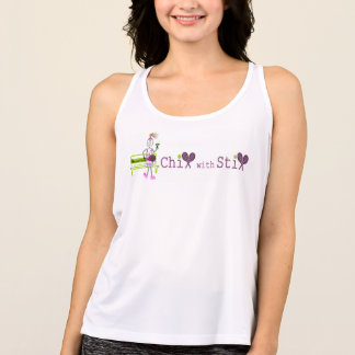 white chix with stix girl logo tank top