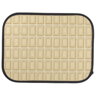 White Chocolate Bar Texture Car Floor Mat