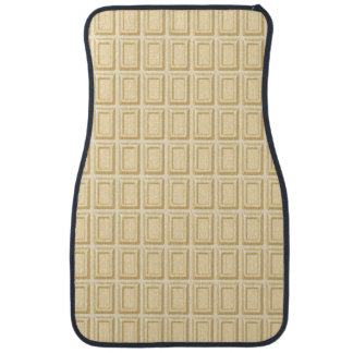 White Chocolate Bar Texture Car Mat