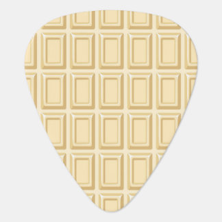 White Chocolate Bar Texture Guitar Pick