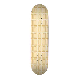 White Chocolate Bar Texture Skateboard Deck