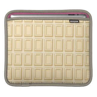 White Chocolate Bar Texture Sleeve For iPads