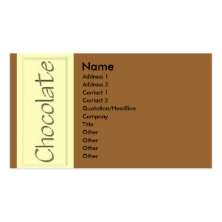 White Chocolate Business Card