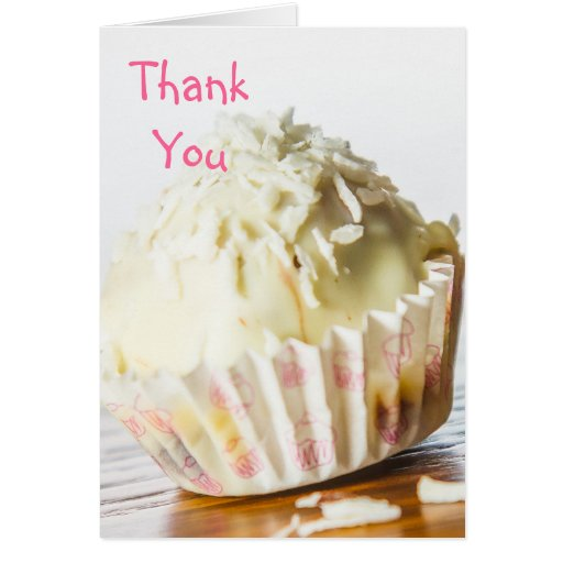White Chocolate Candy Thank You Card Greeting Card