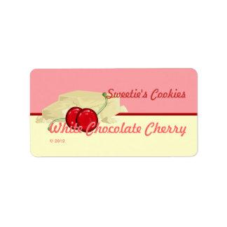 White Chocolate Cherry Labels