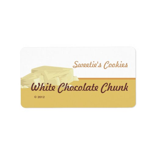 White Chocolate Chunk Labels