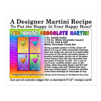 White Chocolate Martini Recipe Postcard