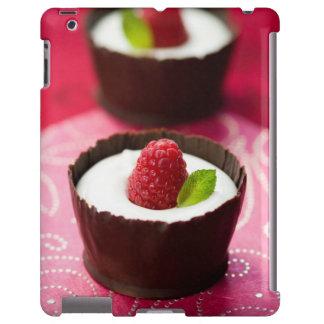 White chocolate mousse dessert