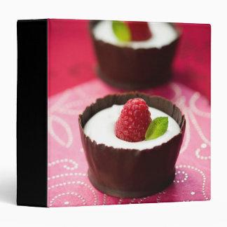 White chocolate mousse dessert 3 ring binder