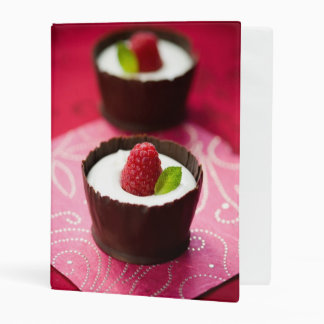 White chocolate mousse dessert mini binder