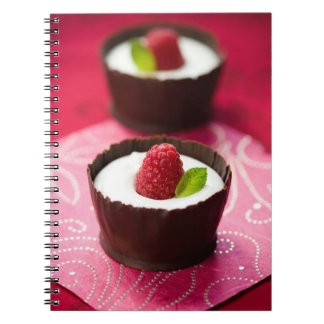 White chocolate mousse dessert spiral notebook
