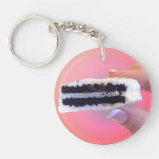White Chocolate Oreo Double-Sided Round Acrylic Keychain