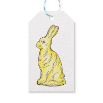 White Chocolate Rabbit Bunny Easter Candy Gift Tag
