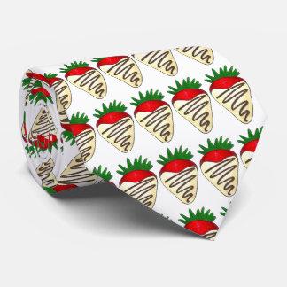 White Chocolate Strawberry Valentine's Day Tie