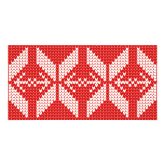 White Christmas Abstract Jumper Knit Pattern Card