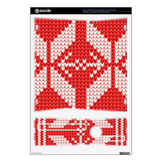 White Christmas Abstract Jumper Knit Pattern Decal For The Xbox 360 S