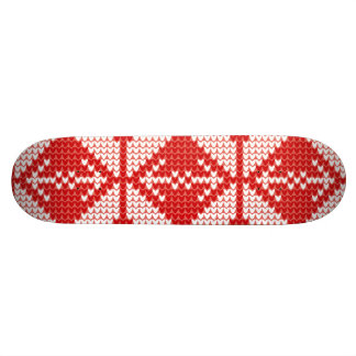 White Christmas Abstract Jumper Knit Pattern Skateboard