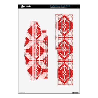 White Christmas Abstract Jumper Knit Pattern Skin For PS3