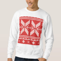 White Christmas Abstract Jumper Knit Pattern Sweatshirt