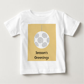 White Christmas Bauble. On Gold Color. Tee Shirt
