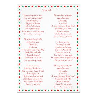 White Christmas Carol Jingle Bells Christmas Cards