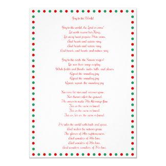 White Christmas Carol Joy To The World Cards