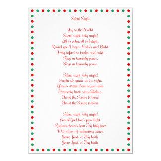 White Christmas Carol Silent Night Christmas Cards