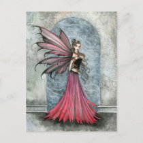 White Christmas Fairy Postcard