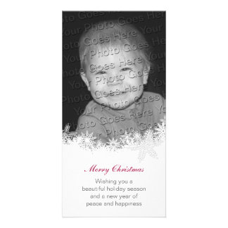 White Christmas Holiday Card Card