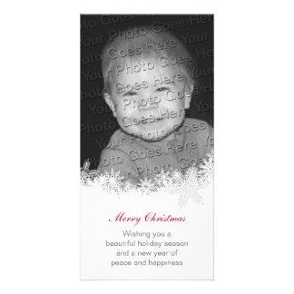White Christmas Holiday Card Card Photo Card