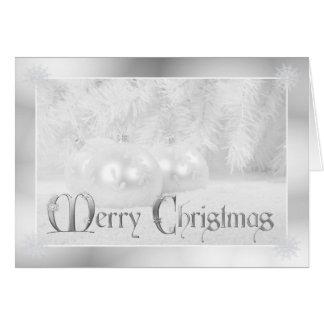 White Christmas Holiday Greeting Card