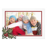 White Christmas Holiday Photo Card Personalized Invites