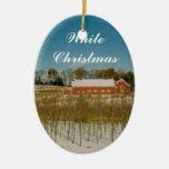 White Christmas in New England Christmas Ornaments