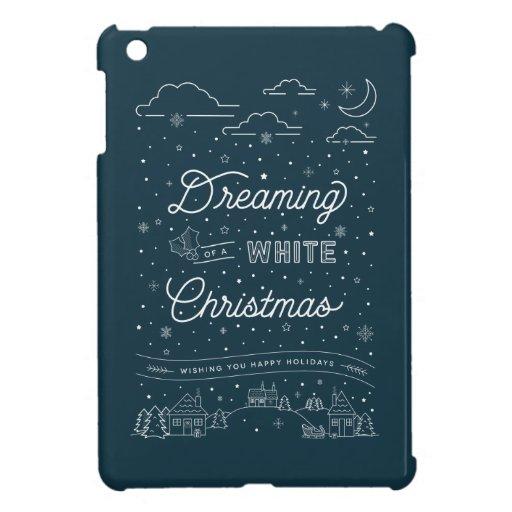 White Christmas iPad Mini Case Blue