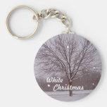 White Christmas Keychain