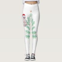 White Christmas leggings
