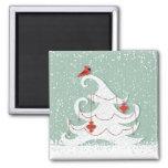 White Christmas Magnet