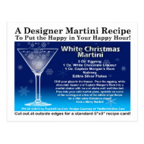 White Christmas Martini Recipe Postcard