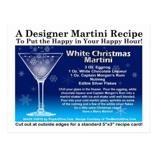 white christmas martini recipe postcard - White Christmas Martini Recipe