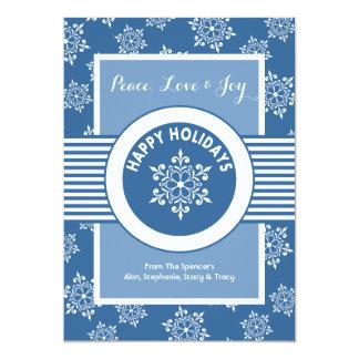 White Christmas Medallion Holiday Card