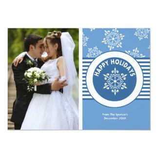 White Christmas Medallion Photo Holiday Card