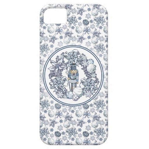 White Christmas Nutcracker Wreath iPhone SE/5/5s Case