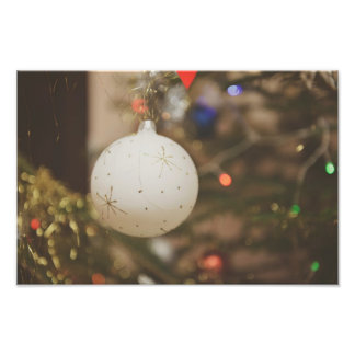 White Christmas ornament Photo Print