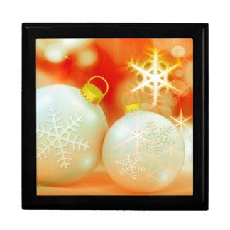 White Christmas Ornaments Jewelry Box