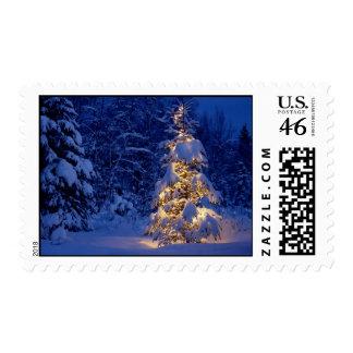 White Christmas Postage Stamps